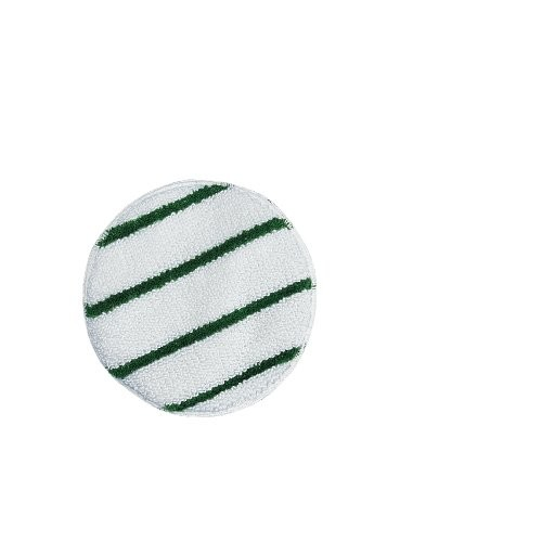 Rubbermaid Commercial Products RCP P267 17 Inch Low Profile Carpet Bonnet - White with Green Strip