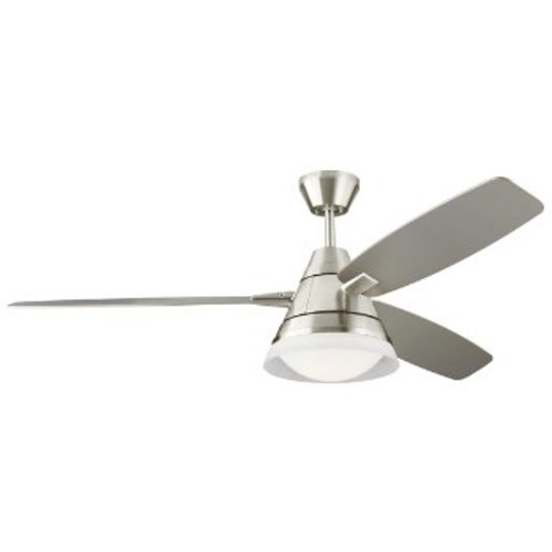 Nord Ceiling Fan [Fan Body and Blade Finish : Brushed Steel with Silver]