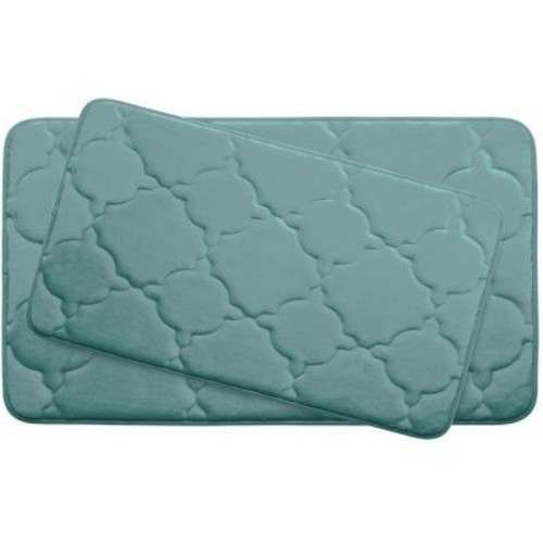 BounceComfort Dorothy Marine Blue Memory Foam 2-Piece Bath Mat Set