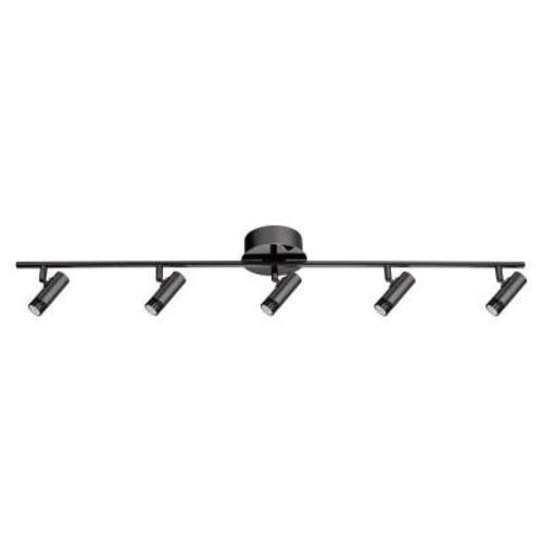 Eglo Lianello 3 ft. 5-Light Black LED Track Lighting