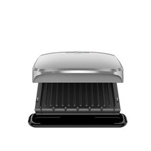 George Foreman GRP3060P 4 Serving Removable Plate Grill, Platinum