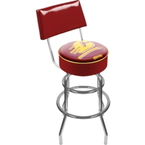 Trademark Games Central Michigan Chippewas Padded Swivel Bar Stool with Back