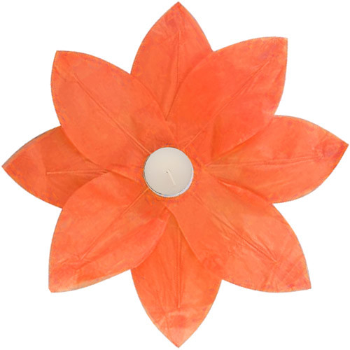 Luminarias Lotus Floating Paper Lantern (Set of 6) Finish: Orange