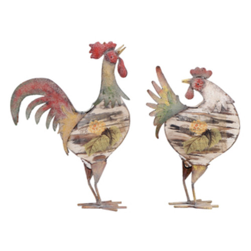 Studio 350 Garden Accents Metal Decorative Rooster