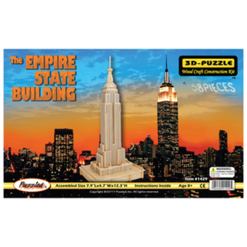 The Empire State Building 3D Natural Wood Puzzle