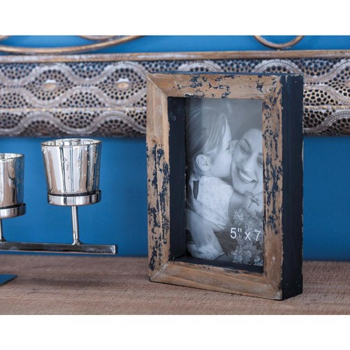 1-Opening Distressed Brown Picture Frames (2-Pack)