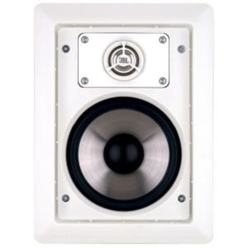 Leviton Architectural Edition powered by JBL 80 Watt Two-Way In-Wall Speaker, White