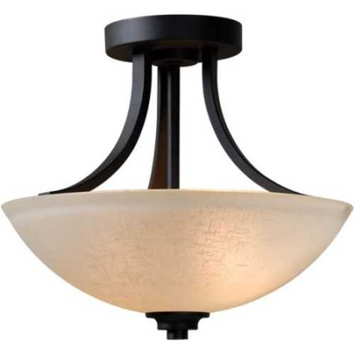 Kenroy Home Dynasty 3-Light Semi Flush, Burnished Bronze