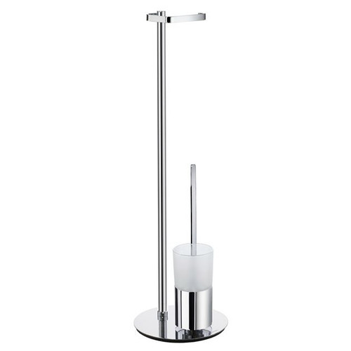 Outline Free-Standing Toilet Paper Holder [Finish : Frosted Glass]