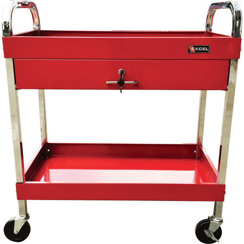 Excel 1-Drawer Rolling Tool Cart  270-Lb. Capacity, Model# TC303D-RED