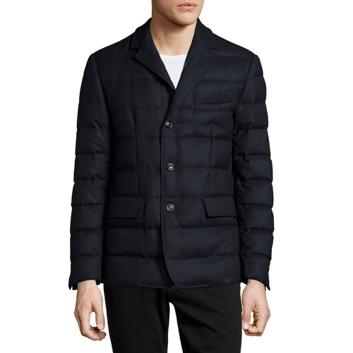MONCLER Rodin Quilted Button-Down Jacket, Navy