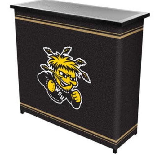 Trademark Global LRG8000-WSU Wichita State UniversityT 2 Shelf Portable Bar with Case