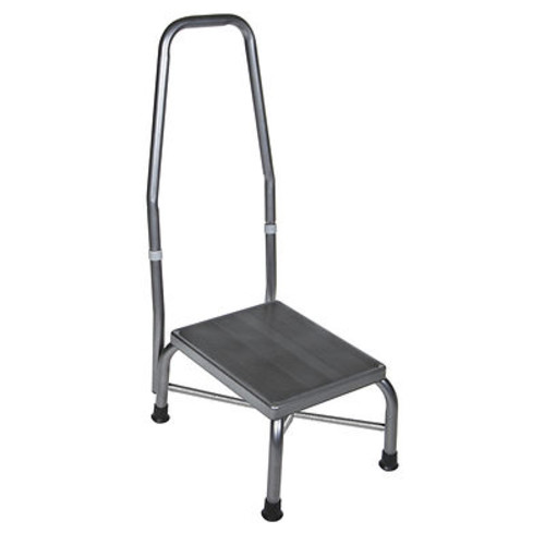 Drive Medical Bariatric Footstool with Handrail - Silver Vein