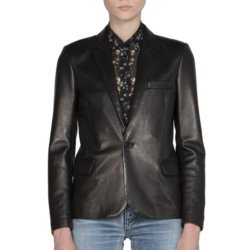 SAINT LAURENT Leather Blazer
