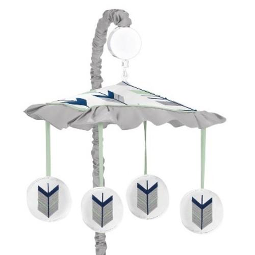 Sweet Jojo Designs Musical Crib Mobile - Navy & Mint Mod Arrow