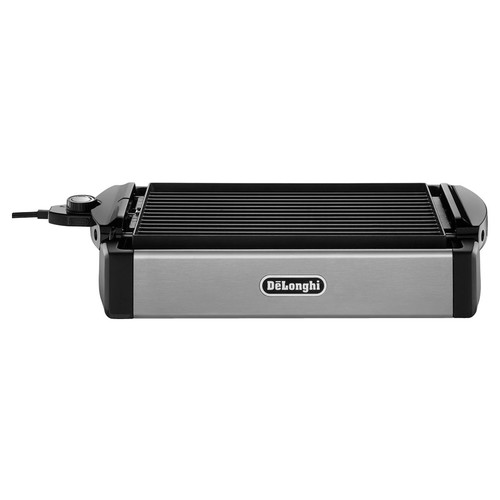 DeLonghi - 2-in-1 Grill and Griddle - Black/Stainless-Steel