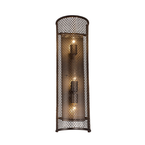 Lit- Mesh Test Wall Sconce [Finish : New Bronze]