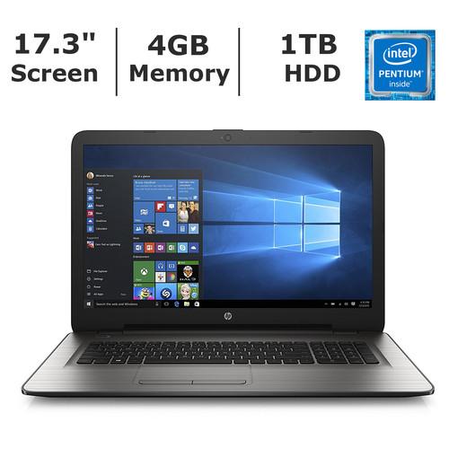 HP 17-X010NR Laptop, Intel Pentium N3710 Processor, 4GB Memory, 1TB Hard Drive