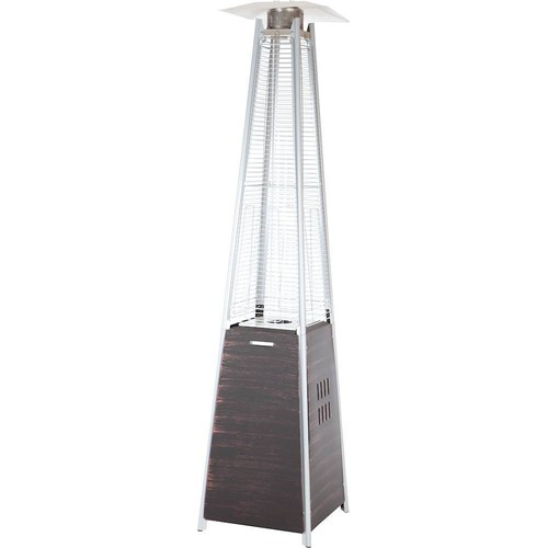 Fire Sense - Coronado Pyramid Flame Gas Patio Heater - Brushed Bronze
