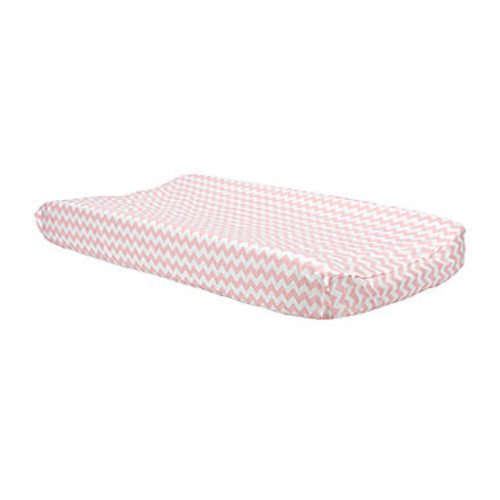Pink Sky Chevron Changing Pad Cover