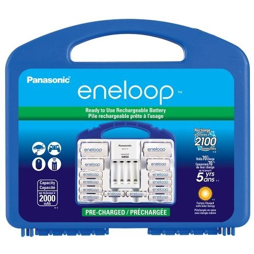 Panasonic KJ17MCC82A Eneloop Power Pack for 8AA, 2AAA, 2 C Spacers, 2 D Spacers, Advanced Individual Battery Charger [Power Pack]