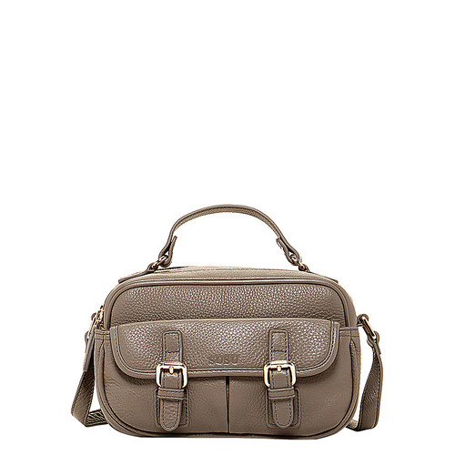 The Sierra Leather Crossbody Grey With Pockets