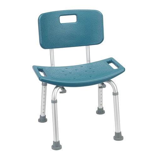 Drive Medical Designer Series Deluxe Bath Bench with Back, Teal [Teal]