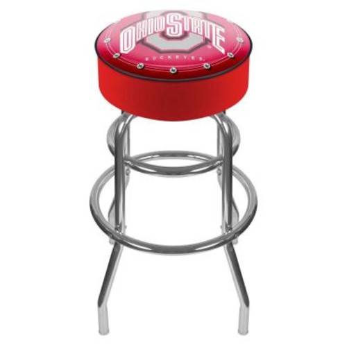 Trademark Ohio State University Logo 31 in. Chrome Padded Swivel Bar Stool