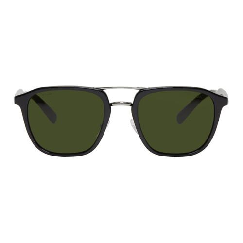 PRADA Black & Green Double Bridge Sunglasses
