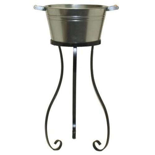 August Grove Alderson Galvanized Bucket Stand