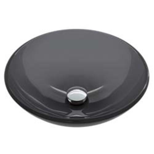 VIGO Sheer Black Glass Vessel Bathroom Sink [VG07042]