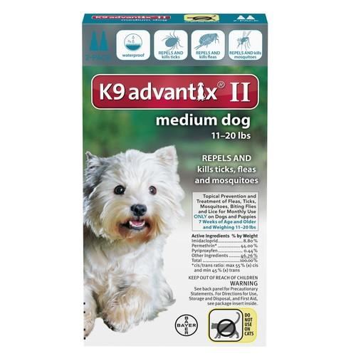 K9 Advantix II 11-20 lbs Dog Flea & Tick Treatment