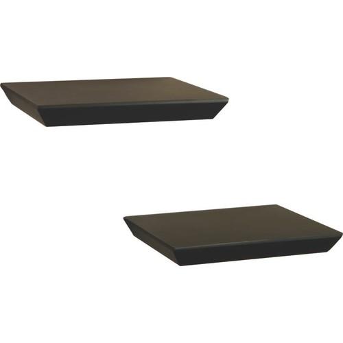 Knape & Vogt 8 in. x 10 in. Floating Black Decorative Shelf Kit (2-Piece)-0140-2X10BK
