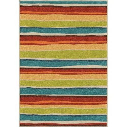 Dreamy Stripe Multi 3 ft. 10 in. x 5 ft. 2 in. Indoor Area Rug