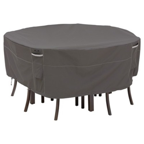 Ravenna Tall Round Table And 6 Chairs Cover - Dark Taupe - Classic Accessories