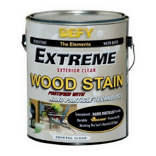 DEFY Extreme 1 Gallon Exterior Wood Stain, Crystal Clear [Crystal Clear, 1 Gallon]