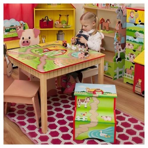 Fantasy Fields Happy Farm Chair Wood/Pig - Teamson