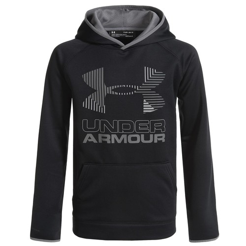 Under Armour Solid Big Logo Fleece Hoodie (For Boys)