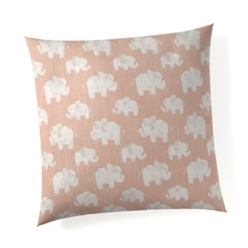 Glenna Jean Elephant Herd Throw Pillow in Blush