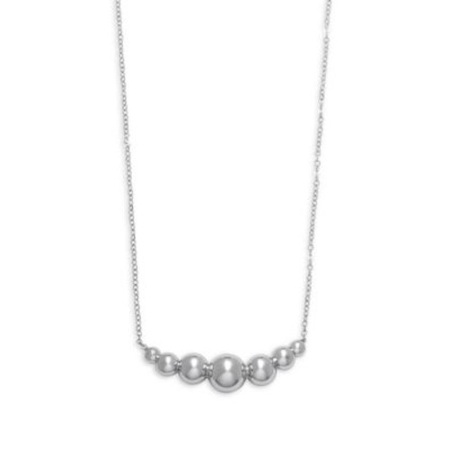 Saks Fifth Avenue - Sterling Silver Graduated Beads Single Strand Necklace