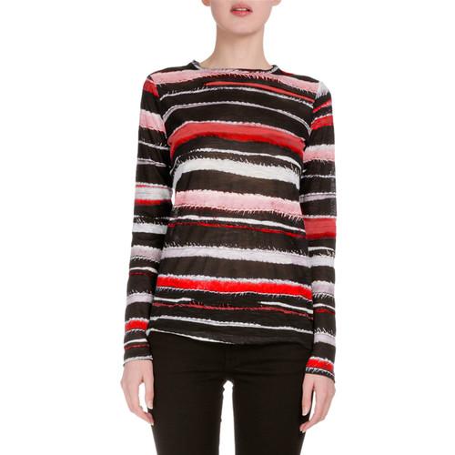 PROENZA SCHOULER Long-Sleeve Cactus-Striped T-Shirt