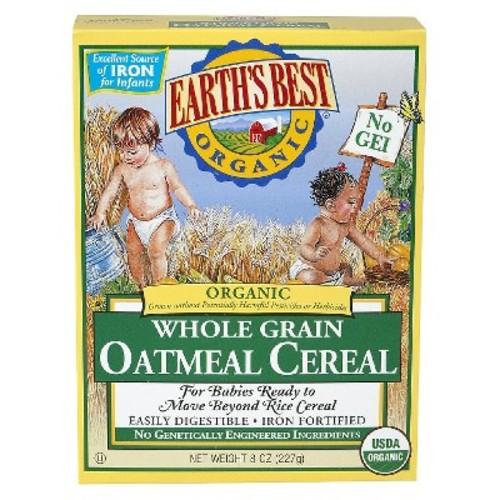 Earth's Best Organic Whole Grain Oatmeal Cereal - 8oz (3 pk)