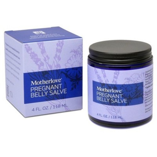 Motherlove Pregnant Belly Salve with Organic Shea Butter for Stretch Mark Prevention, 4 oz Jar [4 Oz.]