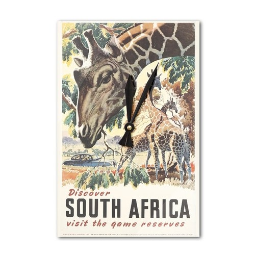 South Africa (Burrage) Netherlands Vintage Poster (Acrylic Wall Clock) - acrylic wall clock