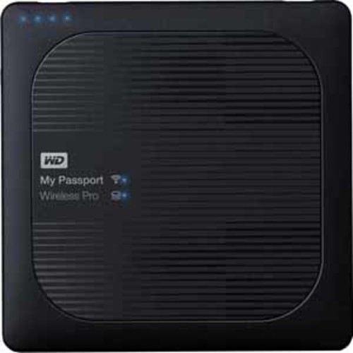 Western Digital Portable Hard Drive 3TB My Passport Wireless Pro - Black (WDBSMT0030BBK-NESN)