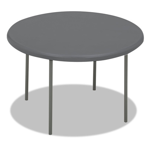 Iceberg ICE65247 IndestrucTables Too 1200 Series Resin Folding Table, 48 dia x 29h, Charcoal