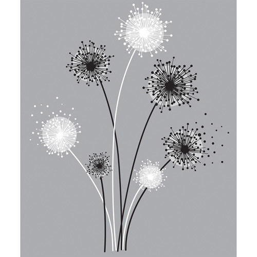 RoomMates Graphic Dandelion Peel & Stick Giant Wall Decal