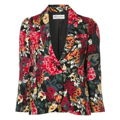 SONIA RYKIEL Floral Print Blazer