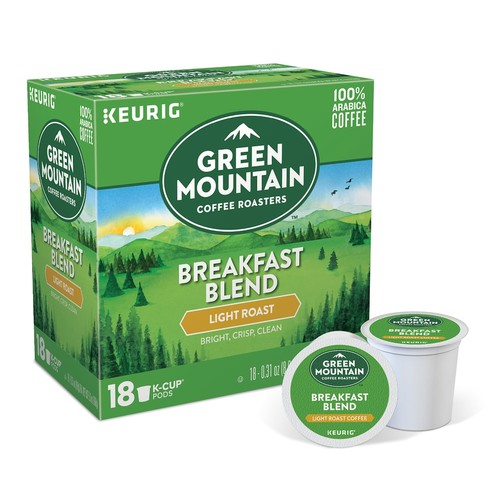Keurig K-Cup Pod Mountain Coffee Breakfast Blend Light Roast Coffee - 18-pk.