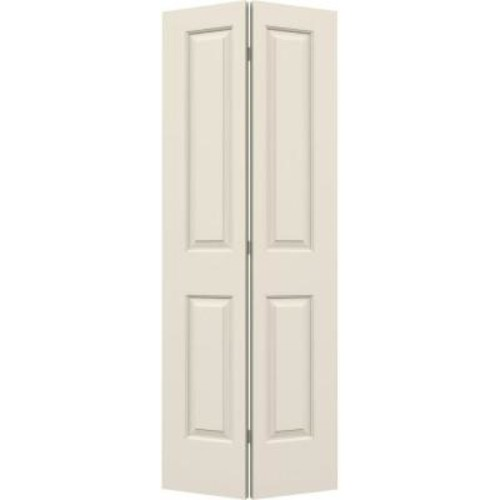 JELD-WEN 32 in. x 80 in. Cambridge Primed Smooth Molded Composite MDF Closet Bi-fold Door